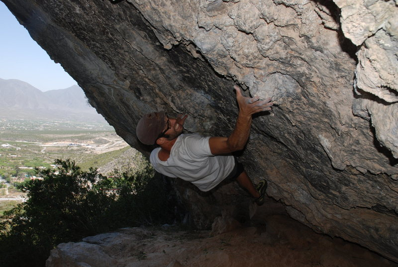 Rock Climbing Photo: plutonio cave no name? v5 - potrero chico  taken b...