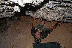 Rock Climbing Photo: plutonio cave no name? v5 - potrero chico