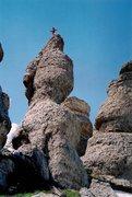 Rock Climbing Photo: The obligatory FA pose...OHOAT follows the steep s...