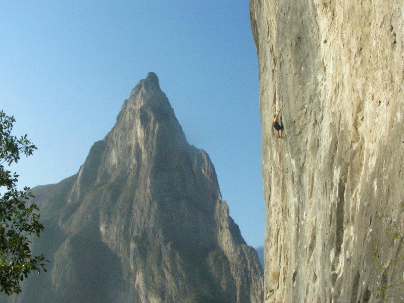 Rock Climbing Photo: manos de dios (12c) - potrero chico