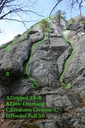 Rock Climbing Photo: Popular routes on the left end...