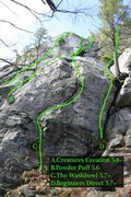Rock Climbing Photo: More left end routes...