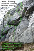 Rock Climbing Photo: A couple routes and features to help you find your...