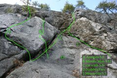 Rock Climbing Photo: Many routes on the center section...