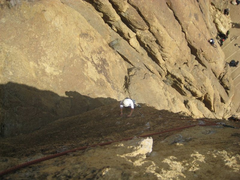 Rock Climbing Photo: View down on Cry Babies