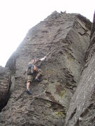 Rock Climbing Photo: Soloing.