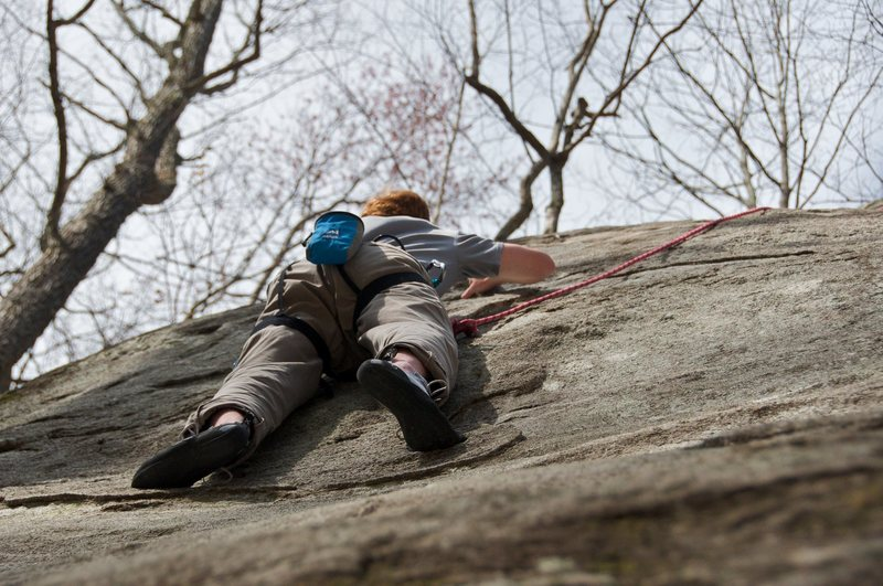 Rock Climbing Photo: Jon on Jodi.  The small incuts and ridges are grea...