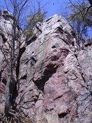 Rock Climbing Photo: Rhoads getting it.