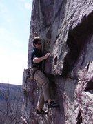 Rock Climbing Photo: Starting Rubberman. Photo: J. Dobbe