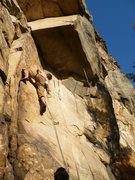 Rock Climbing Photo: Stew just about to get into the business end of Se...