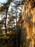 Rock Climbing Photo: One more shot of the left slab. Beautiful area!