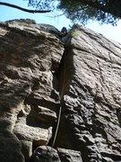 Rock Climbing Photo: Chris Keller leading Wiskey Chimney  photo by: Joh...