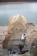 Rock Climbing Photo: Fallen Arete hb