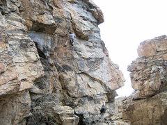 Rock Climbing Photo: Jim looking dandy as he cruises the route.
