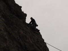 Rock Climbing Photo: Scott on lead possibly a first or 2nd ascent. Inte...