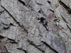 Rock Climbing Photo: Scott Matz leading the ledges P1.