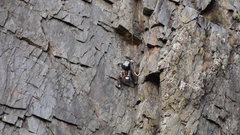 Rock Climbing Photo: Eric Winne following P1 of our climb in 2009. phot...