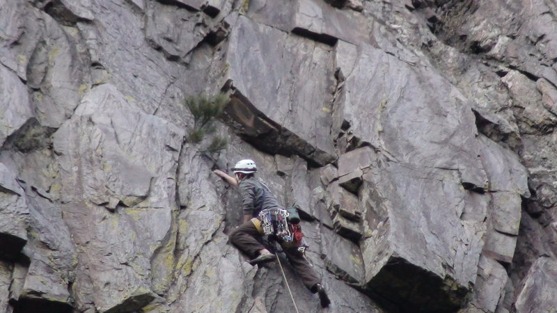 Eric on lead P2 conquering the gear puzzle.