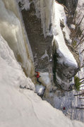 Rock Climbing Photo: PG 13, Kama Bay, Ontario. Starting the vertical se...