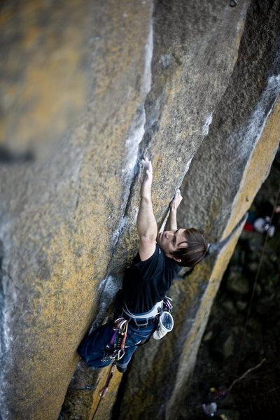Rock Climbing Photo: trying...