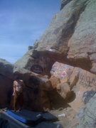 Rock Climbing Photo: Reach Overhang.  The business starts at the chalky...