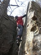 Rock Climbing Photo: Vince, on the aptly named route.