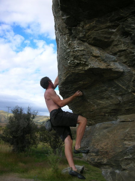 Bouldering just outside of Wanaka.