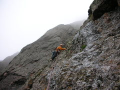 Rock Climbing Photo: Walker thinking dry thoughts on the North Pillar.