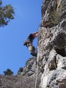 Rock Climbing Photo: DK going too far left and just making things harde...