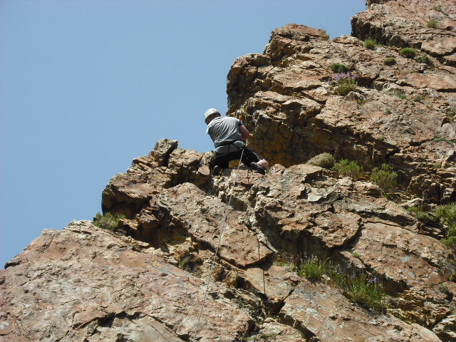 Rock Climbing Photo: First time, of course I'm going to wear a damn hel...