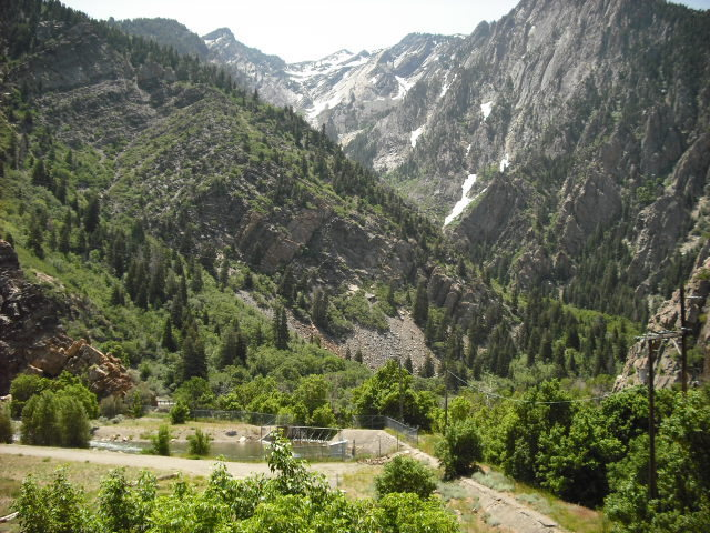 Great view of Big Cottonwood Canyon in the summer!