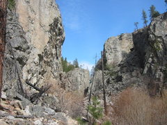 Rock Climbing Photo: Approaching Doctor's Wall.  The Doctor's Wall is o...