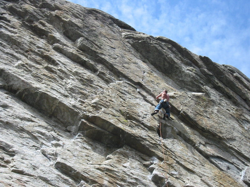 Rock Climbing Photo: Unknown climber on Doctor Megatrip (I think) at th...