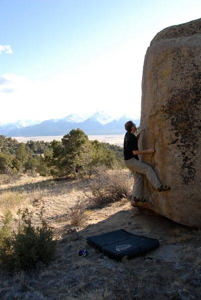 Rock Climbing Photo: V3 on SE arete.