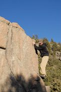 Rock Climbing Photo: Dustin getting ready for the highish topout on the...