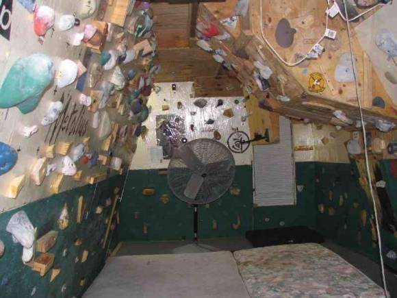 Rock Climbing Photo: looking into garage