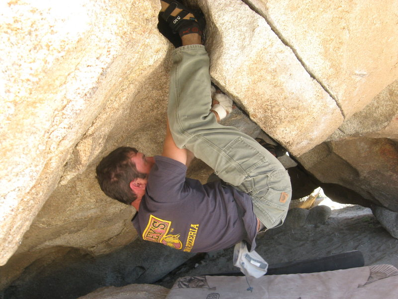 Rock Climbing Photo: A little trickery to get to the rest. Photo by Kra...