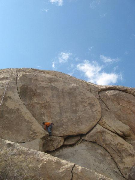 Rock Climbing Photo: JK following the Friendly Hands