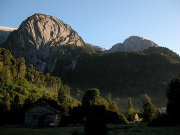 Rock Climbing Photo: Cerro La Junta above the olds huts.  Photo by Chel...
