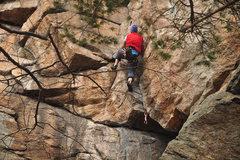 Rock Climbing Photo: Dave Morgan in the crux.
