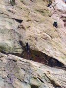 Rock Climbing Photo: The same route from farther away, and the one next...