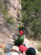 Rock Climbing Photo: Bean Fest-ers out for Easter. The only eggs here a...