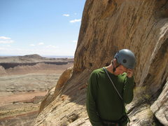 "Rock Climbing Photo: Steve belaying Paul on the final pitch....""Go..."