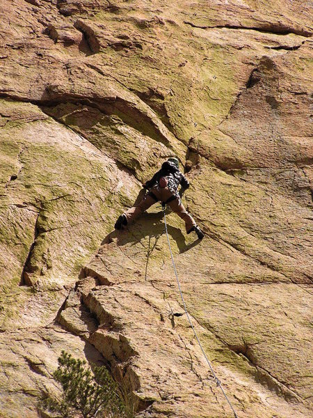2nd pitch of a route on Sheeps Head at Spring Bean Fest
