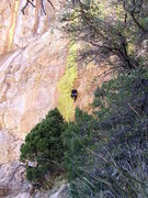 Rock Climbing Photo: Luis on a cool 5.11 route at the end of the day on...