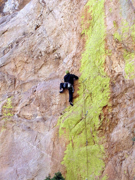 Luis on the cool 5.11 route...
