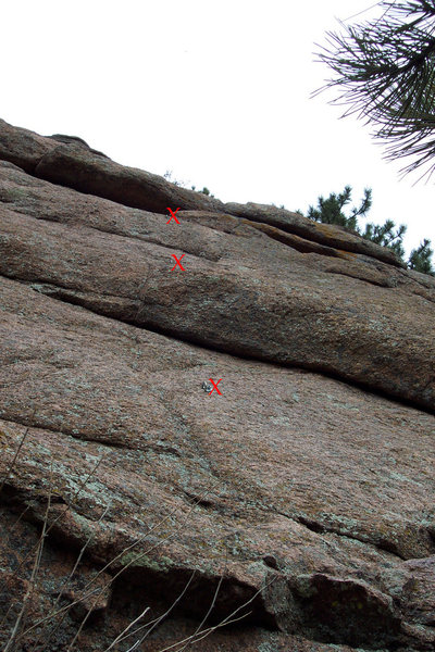 First three bolts marked.