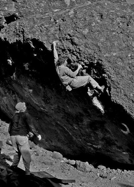 Rock Climbing Photo: Sean hits the crimp