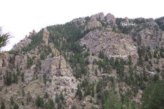 Rock Climbing Photo: St. Vrain Spires area (taken from near the P. Mosh...
