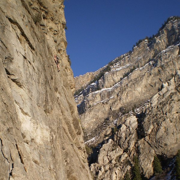 Rock Climbing Photo: Three exciting roofs.  (4/6/09 Photo by Perin Blan...